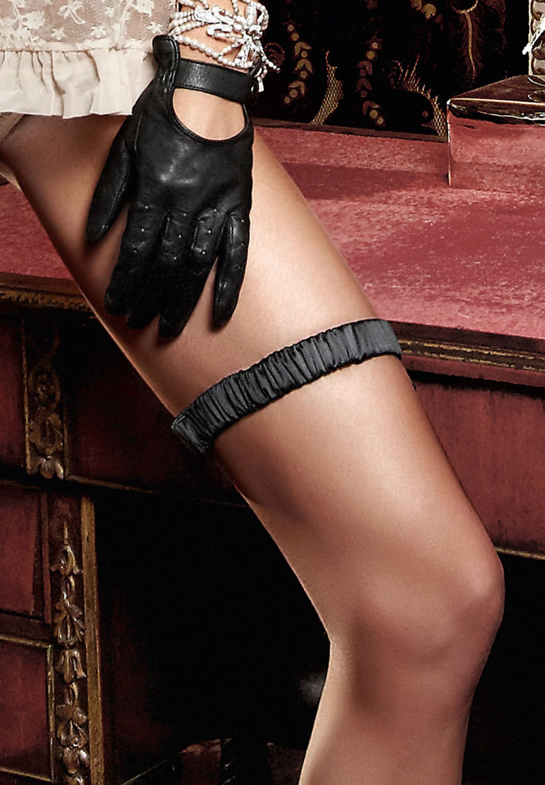 Black Satin Leg Garter (disc)