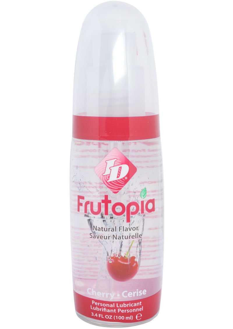 Id Frutopia Water Based Flavored Lubricant Cherry 3.4oz