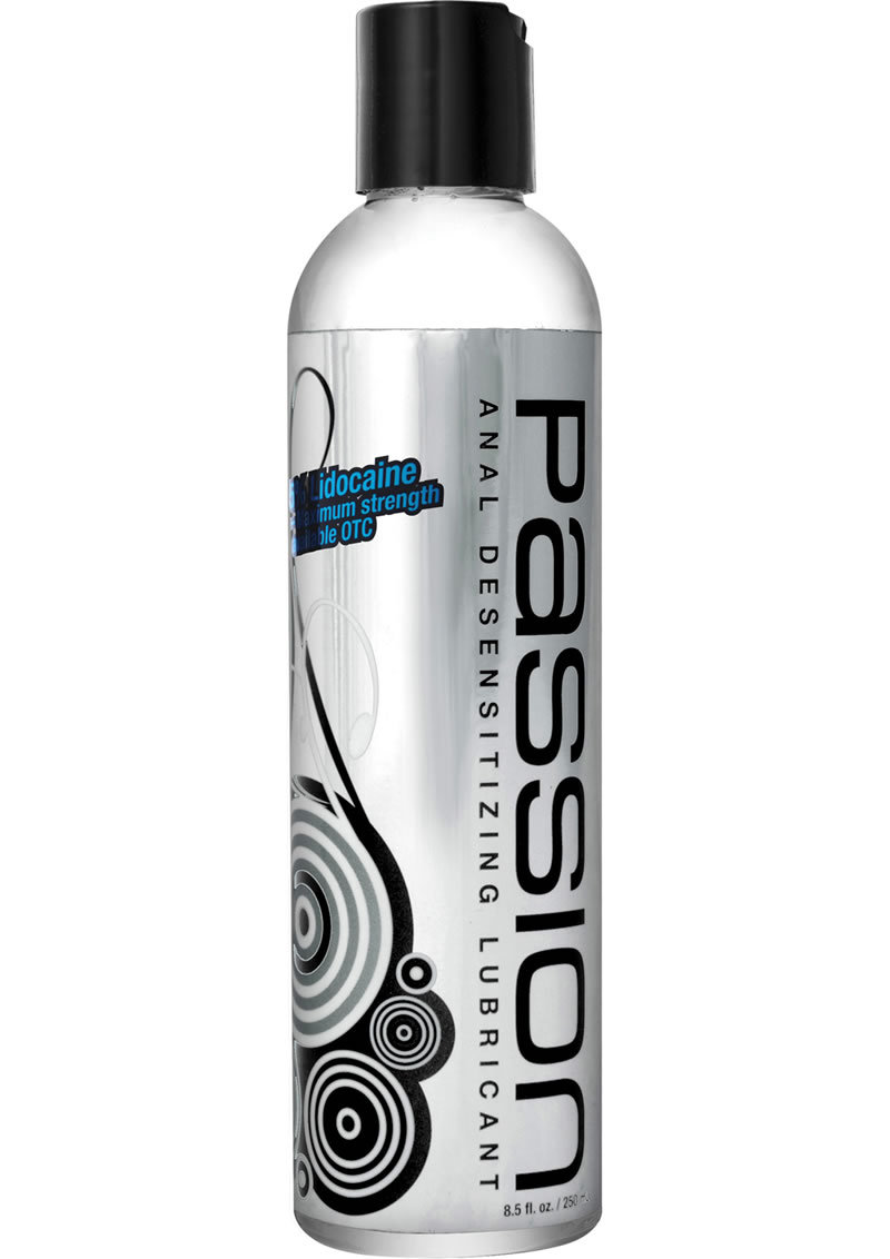 Passion Maximum Strength Anal Desensitizing Water Based Lubricant With Lidocaine 8.25oz