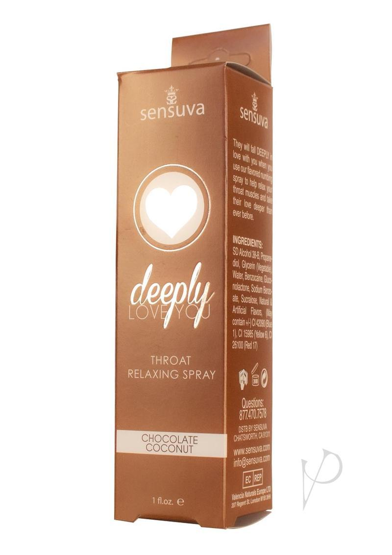 Deeply Love You Throat Relaxing Spray Chocolate Coconut 1oz