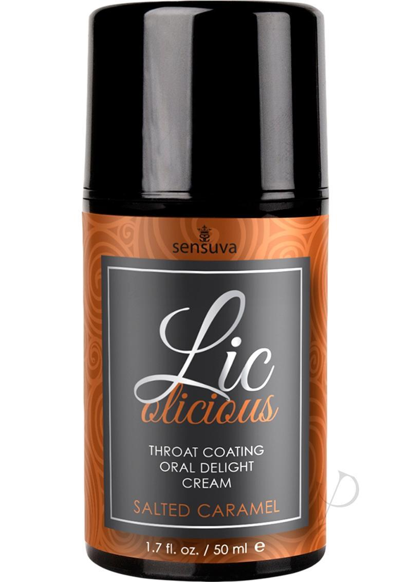 Licolicious Throat Coating Oral Delight Cream Salted Caramel 1.7oz