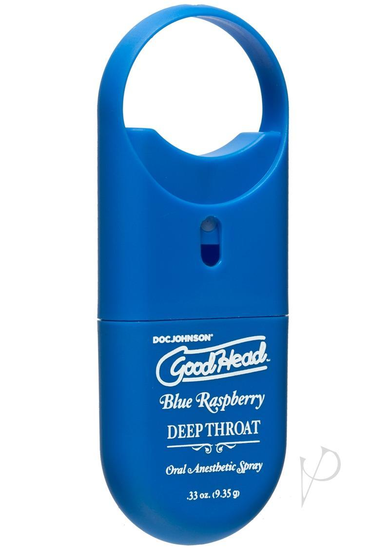 Goodhead Deep Throat To-go Oral Anesthetic Spray Blue Raspberry .33oz