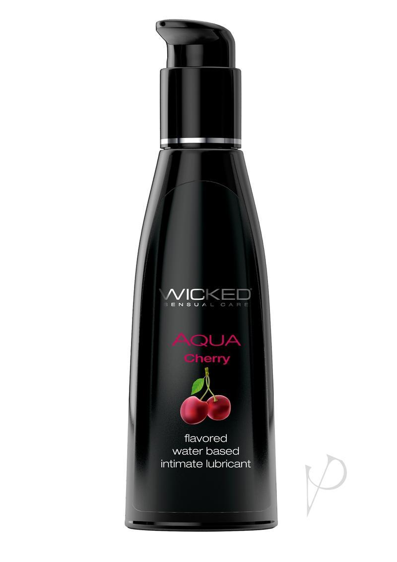 Wicked Aqua Water Based Flavored Lubricant Cherry Cordial 4oz